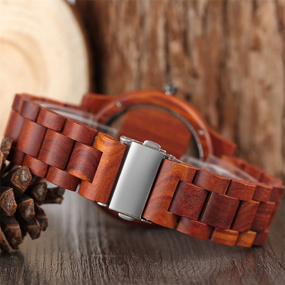 Different color Creative Fashion Casual Sport Simple analog Hollow Bamboo Wooden Men Unique Handmade Wood Quartz Wristwatch+Gift Bags (30)