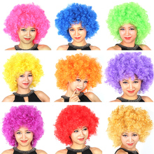 Free shipping fans explosive head wig dance bar wedding party dress performance props wig Funny fluffy funny clown wig caps(China)