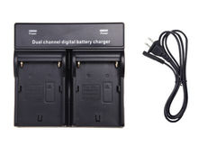 NP-F970 F960 QUICK Dual Digital Camera Battery Charger For SONY NP-F970 F750 F960 QM91D FM50 FM500H(China)