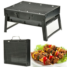 Stainless Steel BBQ Barbecue Grill Compact Charcoal Outdoor Folding Portable Kebab Shashlik Barbecue Grill Home T35