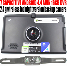 "7"" car truck vehicle android gps navigation navigator 1.5GHz 512M 16GB DVR AVIN WITH 2.4G WATERPROOF WIRELESS REARVIEW CAMERA"