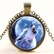 New Arrivals  Moon Star necklace time Wolf Totem series short men's Necklace trade jewelry wholesale
