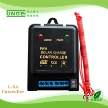 Direct selling 6V/12V Auto 1A PWM Min solar controller rain control function for streetlight/pestkilling lamp China manufacturer