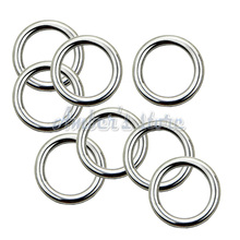 10PCS 3x15MM Forged AISI 316 Stainless Steel Welded Round Ring Boat Hardware Rigging Hardware
