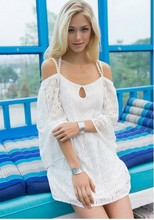 PEILING DRAGON Sexy Lace Crochet Dress beach dress head(China)