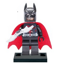 Single sales XH 106 Building Blocks Super Heroes Avengers Figures Batman With WING Red Cloak Bruce Wayne assemble childrens Toys