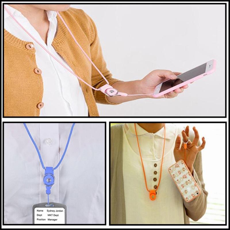 Portefeuille Detachable Long Lanyard Neck Strap For Key id badge holder Xiaomi mi 5 mi5 iPhone 7 6 keycord Mobile Phone Lanyards (6)