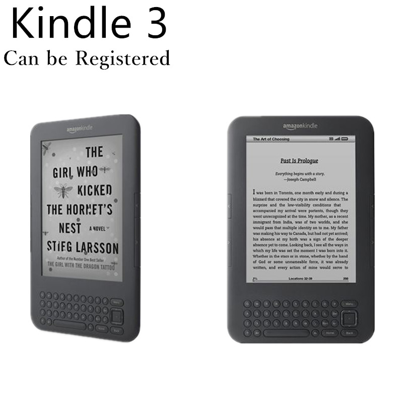 Refurbished kindle 3 eink screen keyboard mp3 6 inch ebook reader e-book electronic have kobo nook in shop e book e-ink reader(China)