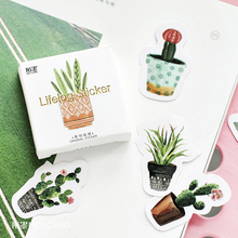 45Pcs/box Creative G Potted Plants Paper Stickers Flakes Vintage Romantic Love For Diary Decoration Diy Scrapbooking Sticker