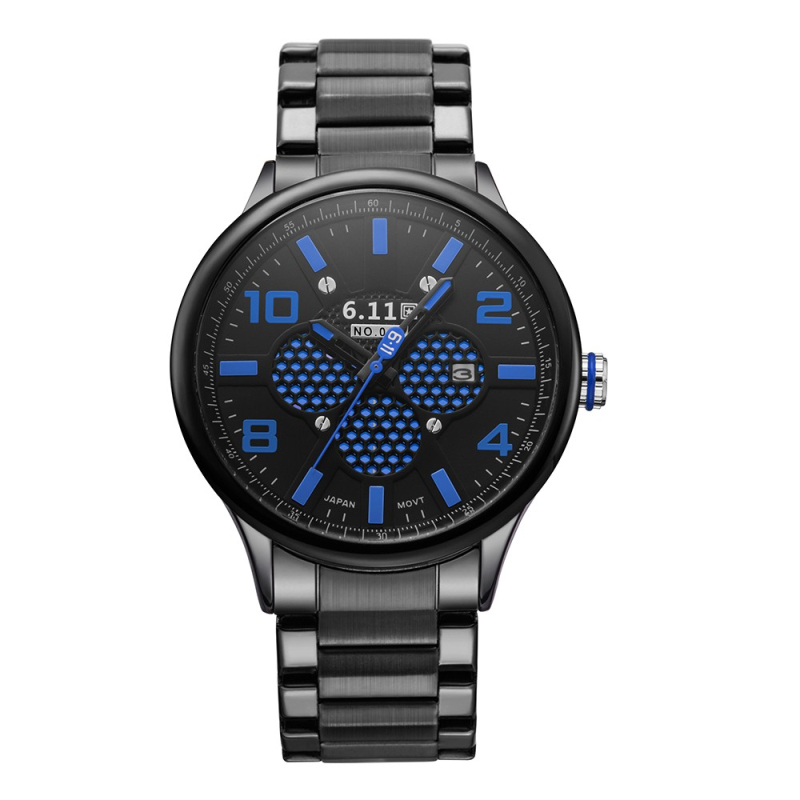 Male Fashion Sport Quartz Watches Men Clock Erkek Kol Saati Top Brand Luxury Casual Full Steel Business Waterproof Watch For Man<br>