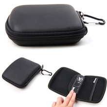 5 inch EVA Hard Shell GPS Carry Case Bag Zipper Cover Pouch for GPS, Cards, Earphones, Cables Storage Black