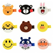 Latest Small Carton Animal Bow Hairclips Sweet Whole Wrapped Safety Hair Clips Kids Hairpins Hair Accessory 650