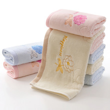 1pcs 34*75cm Jacquard Rose Flower Pattern Face Towel Cotton Hair Hand Bathroom Towels badlaken toalla Toallas Mano Gift 42117