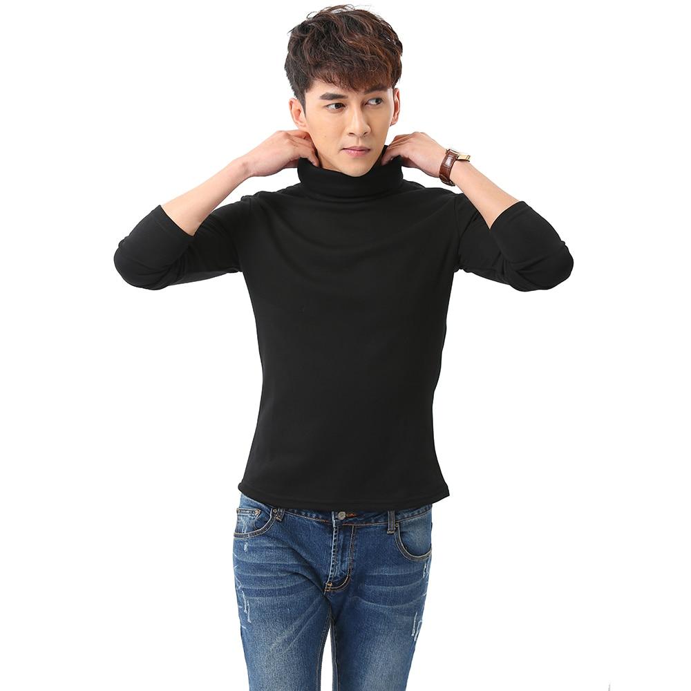 Black Turtleneck Sweater Men Pullovers Winter Thicken Underwear Mens Slim Fit Cotton Jumpers Male Turtle Neck camiseta Sweater Pull homme (4)