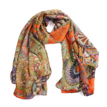 Newest scarf women Girl Printed Long Soft Scarf Shawl unique pattern retro style foulard femme top sale  bandana cachecol #0