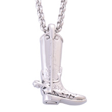 New Distinctive Stainless Steel Boots Pendants Necklaces for Women Fashion Cremation Jewelry Urns for Ashes Keepsakes IR189