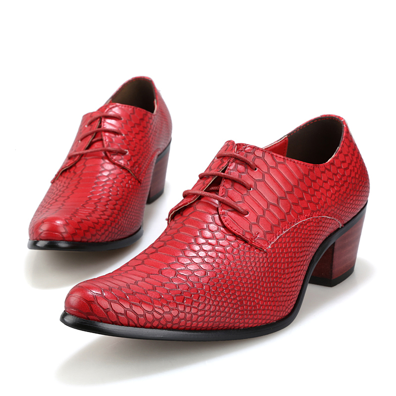 height increasing snake skin men shoes luxury brand italian formal leather male footwear pointed toe brogue oxford shoes for men (18)