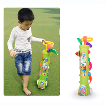 Outdoor Fun Sports Children Golf Ball Rod Plastic Toy Set Parent-child Toys Early Educational Toys for Kids Sports Toy(China)