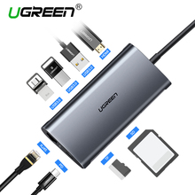 Ugreen USB HUB USB C 에 HDMI RJ45 벼락 3 어댑터 대 한 MacBook Samsung Galaxy S9 Huawei Mate 20 P20 pro 형 C USB 3.0 HUB(China)