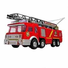 Free Shipping Juguetes Fireman Sam Kids Toys Fire Truck Car With Music Led For Baby Toys Fire Truck Educational Water Spray Toy(China)