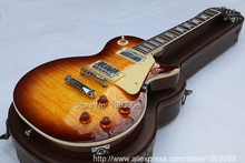 Upgrade Custom shop 1959 R9 Tiger Flame LP electric guitar  Standard LP 59 electric guitar without hard case,Free shipping