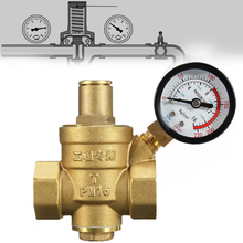 "Reliable DN20 Connector 3/4"" Water Reducing Valve Mayitr Adjustable Brass Pressure Reducing Regulator Valves With Gauge 85*63mm(China)"