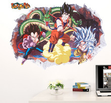 Cartoon Dragon Ball Evolution Boy Wall Sticker Home Decoration wall decals for Kids Room kindergarten bedroom Wallpaper poster