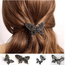Fashion butterfly hair clip for women girls hair accessories trendy animal hairs accessoires jewelry Alloy Barette