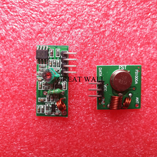 1 pair RF wireless receiver module & transmitter module board Ordinary super- regeneration 433MHZ DC5V (ASK /OOK)(China)