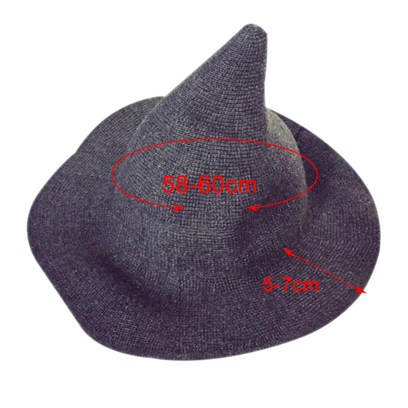 366aba8d915 2018 Knit Bucket Hat Witch Hat Fisherman Men Women Halloween Decor ...