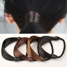 1Pc Korean Wig Hair Ring Ponytail Holders Plaits Circle Manual Twist Rubber Hair Band Headbands Hairbands Girls Hair Accessories(China)