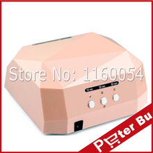 12W CCFL+24W LED uv lamp 36w gel nail machine dry 110/220v nails Diamond Shaped Curing Nail Dryer for UV Gel Nail EU,US Plug