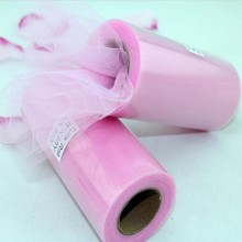 "Free Shipping Brand New Pink Tulle Roll Spool 6""x25YD Tutu Wedding Party Gift Bow Craft Banquet Decoration Favor"