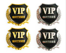 VIP Metal Emblems Badge Car Sticker Decal Door Window Body Auto Decoration For Citroen Peugeot BMW AUDI VW FORD TOYOTA Junction