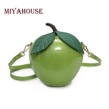 Miyahouse Famous Brand Women Crossbody Bags Red Apple Mini Bag Lady Fashion Female Messenger Bags Leaves Bags for Teenager Girls(China)