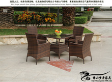 Rattan chair and coffee table casual outdoor furniture balcony garden rattan table and chairs LT06
