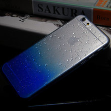 1pc 3D Water Drop Dripping case for iphone 6 6s clear crystal cover case total 9 colors in stock