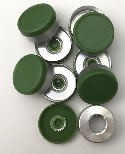 1000pcs 20mm aluminum-plastic flip-off caps for glass vials color green<br>