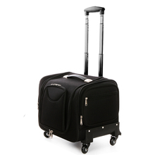 Letrend Oxford Crocodile Rolling Luggage Spinner Suitcases Wheel Cabin Travel Bag Women Cosmetic Case Multi-function Trolley(China)