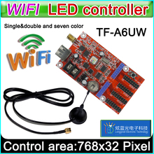 TF-A6UW wifi led Controller Card, p10 *** module Single&Dual color led signs, conventional p10 LED display control card(China)