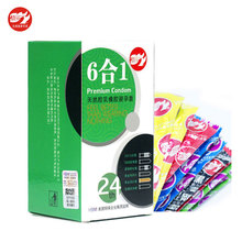 Buy 6 1 24 Pieces Latex Smooth Bumped Spike Ribbed Thin Condoms Adult Contraception Sex Product