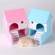 Pet Hamster House Ladder Small Animal House Villa Mouse Cage Castle Exercise Toy Pet Accessories Supplies Collapsible Cage(China)