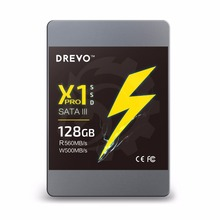 DREVO X1 Pro SSD Internal Solid State Drives 128gb Upgrade SATAIII Read 560MB/S Write 500MB/S(China)