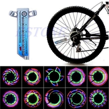 16 LED Cool Car Motorcycle Bicycle Light Cycling Bike Bicycle Tire Wheel Valve Flashing Spoke Light Battery Powered JUN08(China)