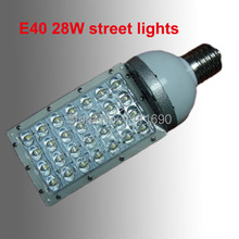 2014 AC85-265V 28W E40/E27 LED street lights led spotlight E40 light led bulb 110V/220V 28*1W led streetlight