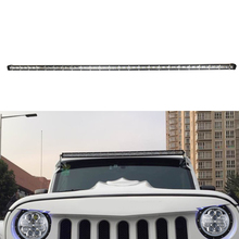 OVOVS Super slim 50Inch single row led off road light bar 144w truck spot flood combo lights 12/24v for vehicles 4x4 ATV SUV UTV