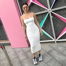 Buy Long Cami 4 Colors Bodycon Dress Spaghetti Strap Sleeveless Sexy Club Bodycon Dress Slim Summer Long Slip Dress for $17.99 in AliExpress store