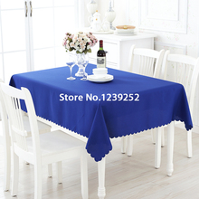 "New Polyester 63""x63"" Blue Table Cloth Nappe de table Wedding Tablecloth Party Table Cover Dining Table Linen"