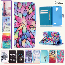 Magnetic Flip Case for Lenovo A536 A358t A358-t Fashion Wallet card slot phone silicone box for Lenovo A 536 358t A358 t cases