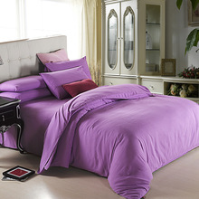 New Deep pink theme high quality home bedding set, 2 pillow case, 1 bed sheet and 1 duvet cover bed cover(China)